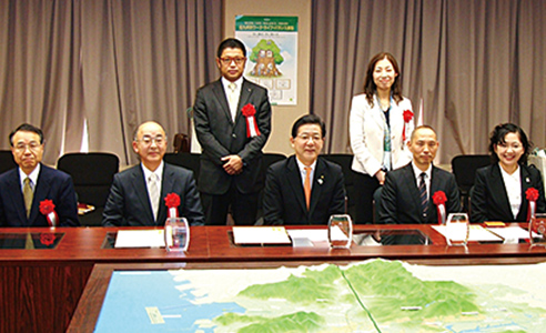 北九州市のワークライフバランス表彰、受賞の様子