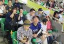 すごい熱気の野球観戦!